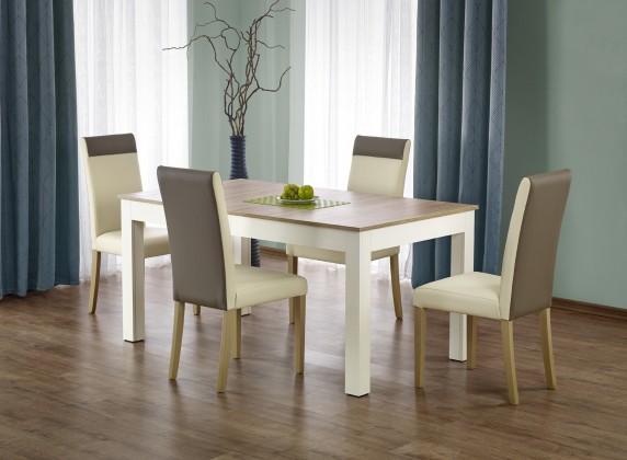 Jídelní stoly Jídelní stůl Seweryn rozkládací 160-300x90 cm (dub sonoma/bílá)