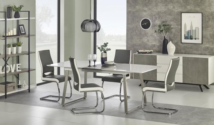 Jídelní stoly Jídelní stůl Thomas - 160-200x90x75 cm (bílá/beton)