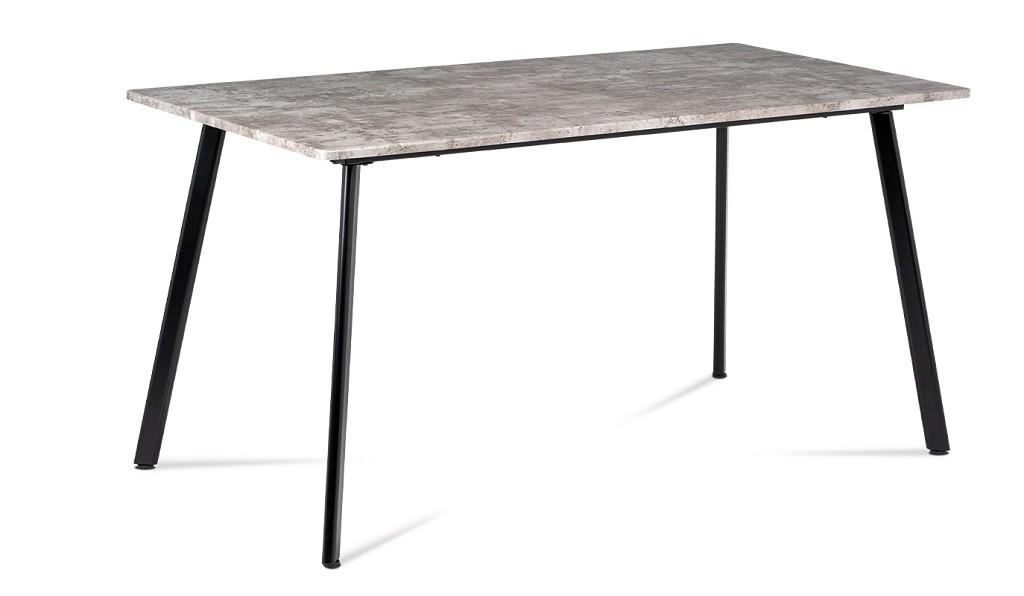 Jídelní stoly Jídelní stůl Torres (beton, černá)