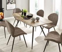 Jídelní stůl Andres (dub, černá)