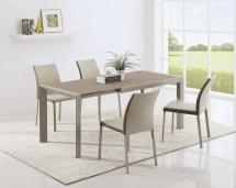 Jídelní stůl Arabis 2 - 120-182x80 cm(hnědá,béžová) - PŘEBALENO