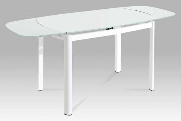 Jídelní stůl AT - Jídelní stůl (bílé sklo/bílý lak)