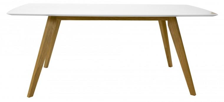 Jídelní stůl BESS 2180-001(bílá/dub)
