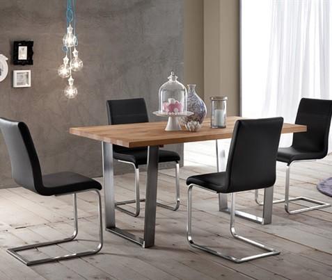 Jídelní stůl Cruise - 200 cm (kostra nikl/deska dub)