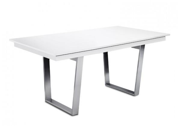 Jídelní stůl Deck 160 cm (deska bílá/kostra ocel)