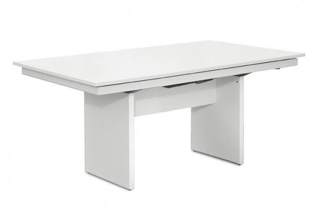 Jídelní stůl Deck 160 cm (deska bílá/kostra panely bílá)