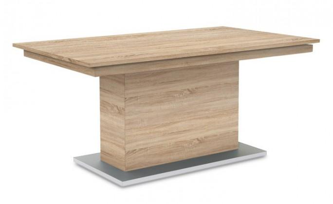 Jídelní stůl Deck 160 cm (deska dub/kostra postavec dub)