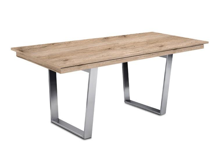 Jídelní stůl Deck 160 cm (deska pískový dub/kostra ocel)