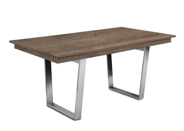 Jídelní stůl Deck 160 cm (deska tmavý dub/kostra ocel)