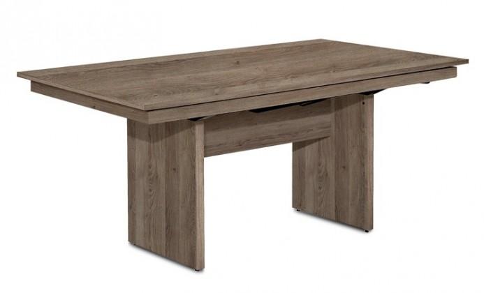 Jídelní stůl Deck 160 cm (deska tmavý dub/kostra panely tmavý dub)