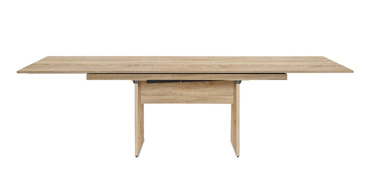 Jídelní stůl Deck 160 cm, rozkládací  (deska dub/kostra panely dub)