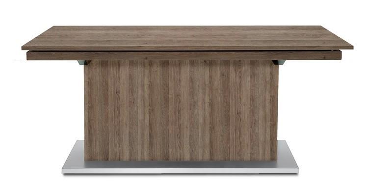 Jídelní stůl Deck 160 cm, rozkládací  (tmavý dub/kostra postavec tmavý dub)