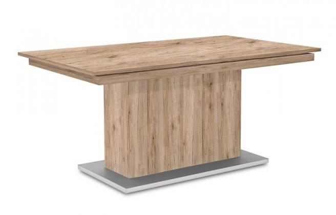 Jídelní stůl Deck 190 cm (deska pískový dub/kostra postavec pískový dub)