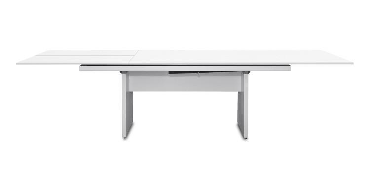 Jídelní stůl Deck 190 cm, rozkládací  (deska bílá/kostra panely bílá)
