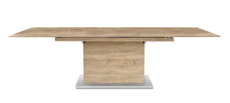 Jídelní stůl Deck 190 cm, rozkládací  (deska dub/kostra postavec dub)