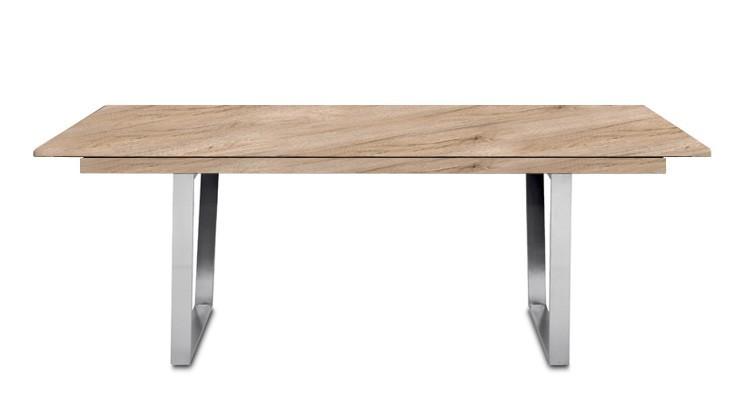Jídelní stůl Deck 190 cm, rozkládací  (deska pískový dub/kostra ocel)
