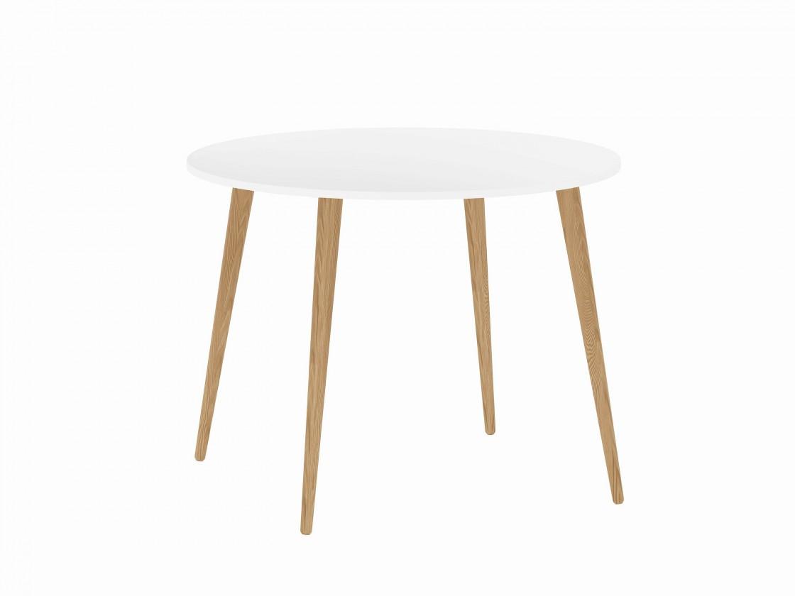 Jídelní stůl Delta - jídelní stůl (bílá/dub)