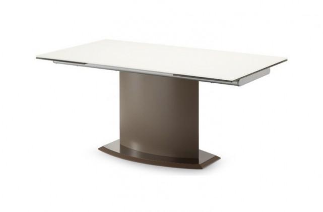 Jídelní stůl Discovery - 160 cm (kostra taupe/deska leptané sklo šedé)