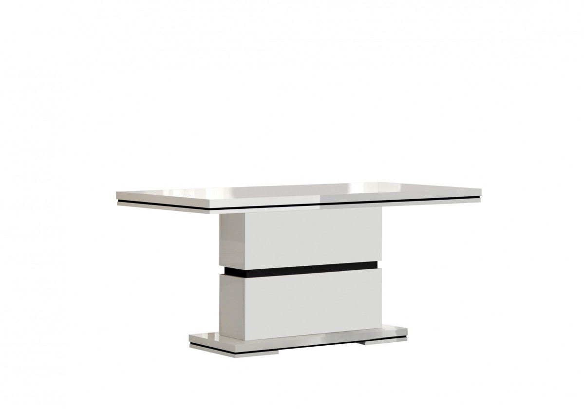 Jídelní stůl Diva - Jídelní stůl 160 cm (bílá/černá)