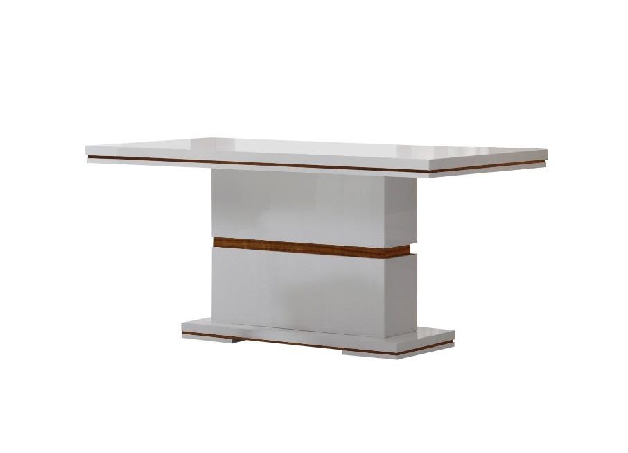 Jídelní stůl Diva - Jídelní stůl 160 cm (bílá/ořech)