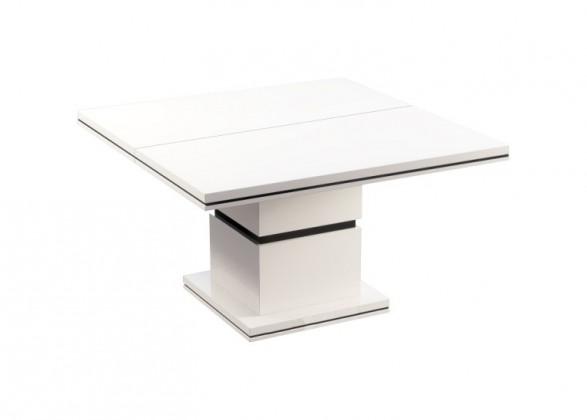 Jídelní stůl Diva - Jídelní stůl, čtvercový (bílá/černá)