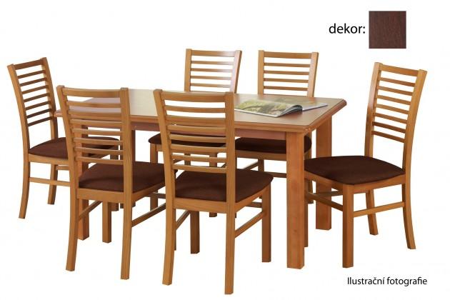 Jídelní stůl Emil (ořech tmavý)