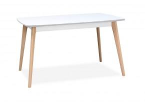 Jídelní stůl Endever - 130x76x85 cm (bílá, buk)