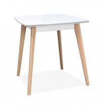 Jídelní stůl Endever - 85x76x85 cm (bílá, buk)
