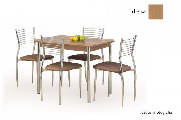 Jídelní stůl Factor (olše / chrom)