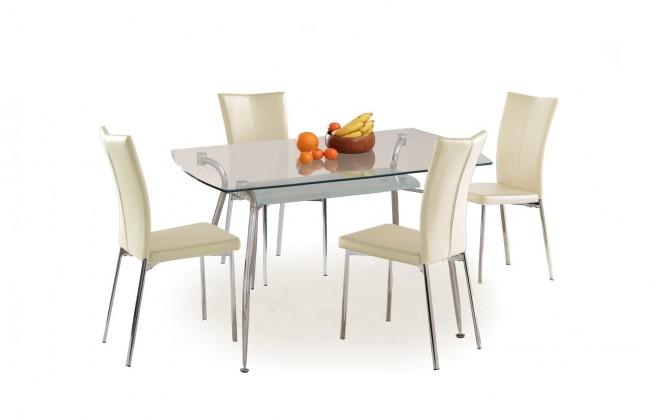 Jídelní stůl Forbes (sklo - transparentní / ocel)