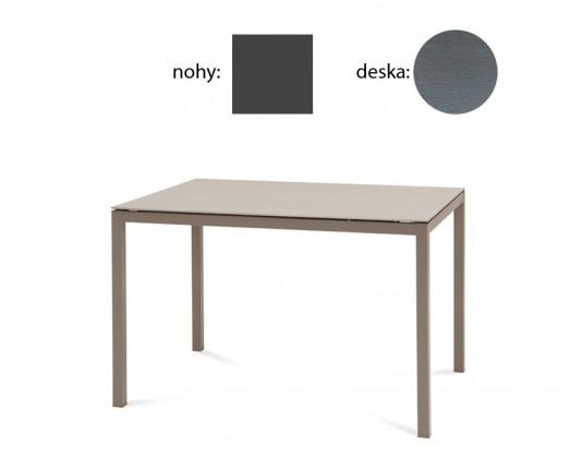 Jídelní stůl Full - Jídelní stůl (lak antracit matný, šedá struktura)