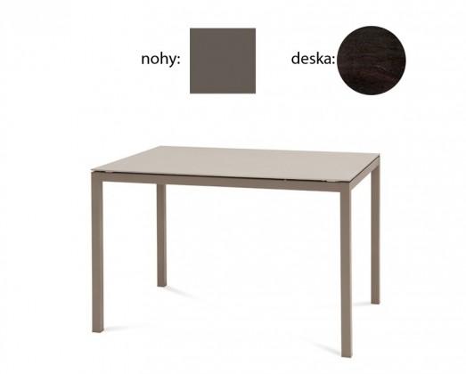 Jídelní stůl Full - Jídelní stůl (lak antracit matný, wenge)