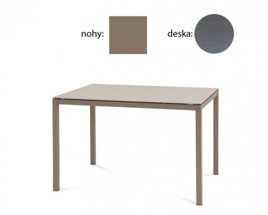 Jídelní stůl Full - Jídelní stůl (lak taupe matný, šedá struktura)