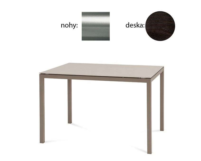 Jídelní stůl Full - Jídelní stůl (saténový hliník, wenge)