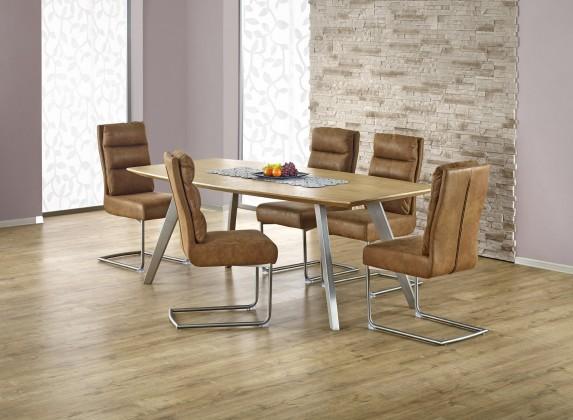 Jídelní stůl Goliat - Jídelní stůl 160x90 cm (jasan, stříbrná)