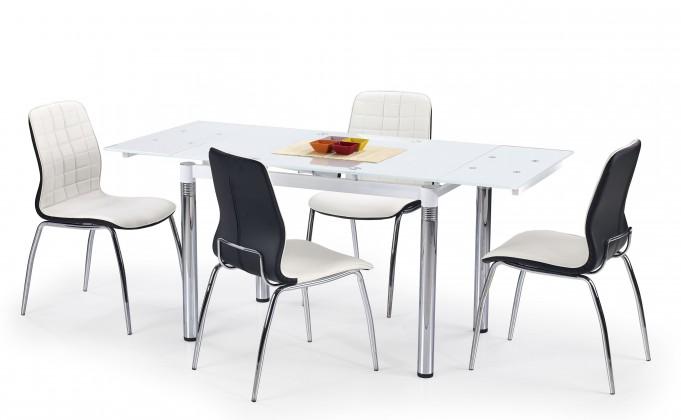 Jídelní stůl Jídelní stůl L 31 (sklo - bílá/ocel)