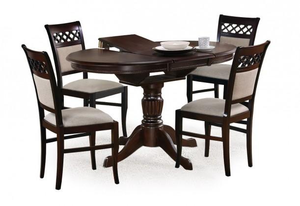 Jídelní stůl Jídelní stůl William - 90-124x90 cm (tmavý ořech)