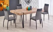 Jídelní stůl Julian (dub san remo, černá)