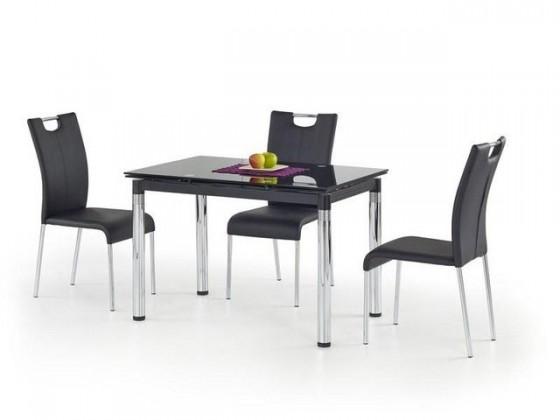 Jídelní stůl L 31 (sklo - černá / ocel)