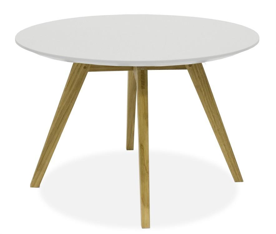 Jídelní stůl LOLA 9306-001+BESS 9317-054 (bílá,dub)