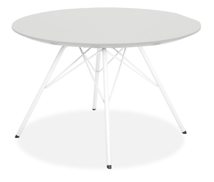 Jídelní stůl LOLA 9306-001+PORGY 9316-801 (bílá)