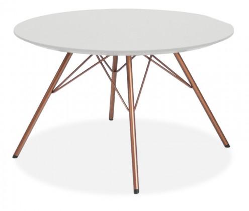 Jídelní stůl LOLA 9306-001+PORGY 9316-889 (bílá,měď)