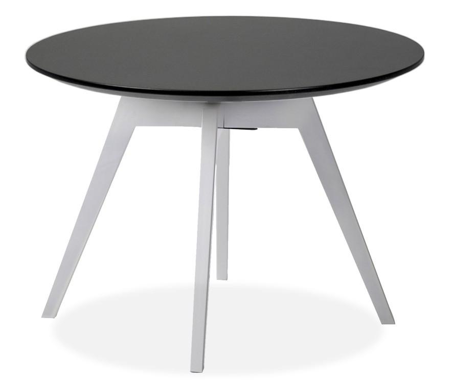 Jídelní stůl LOLA 9306-024+BESS 9317-001 (černá,bílá)