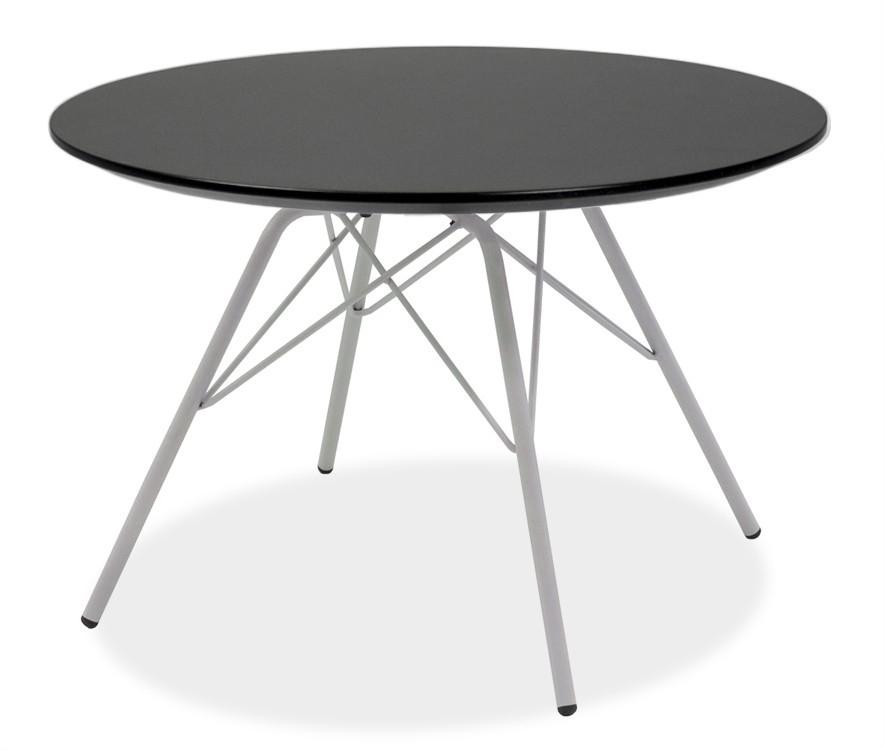Jídelní stůl LOLA 9306-024+PORGY 9316-801 (černá,bílá)
