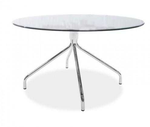 Jídelní stůl LOLA 9307-090+EGO 9319-091 (čiré sklo,chrom)