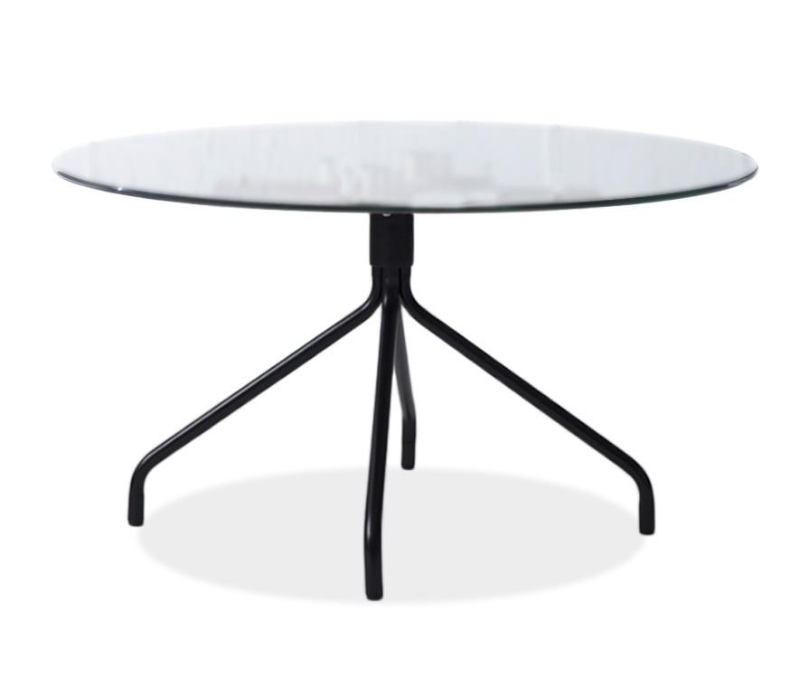 Jídelní stůl LOLA 9307-090+EGO 9319-824 (čiré sklo,černá)
