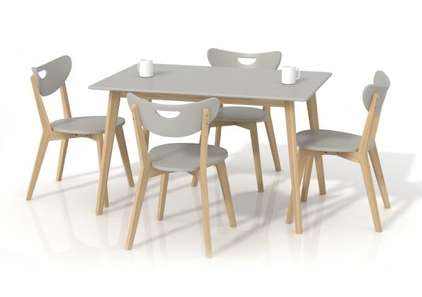 Jídelní stůl Lorrita (šedá / masiv)
