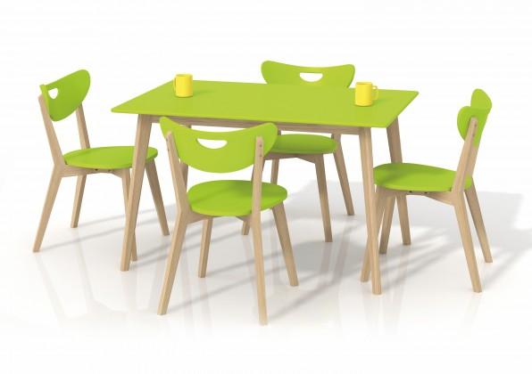 Jídelní stůl Lorrita (zelená / masiv)