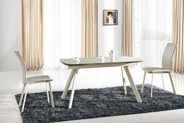 Jídelní stůl Maximus  (sklo,béžová)