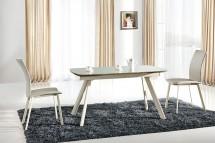 Jídelní stůl Maximus (sklo,béžová) - II. jakost
